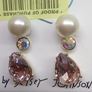 Betsey Johnson New 3 Earring Studs